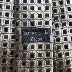 Ermenegildo Zegna Woven Silk Geometric Tie